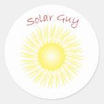 Individuo solar de T30a Etiquetas Redondas
