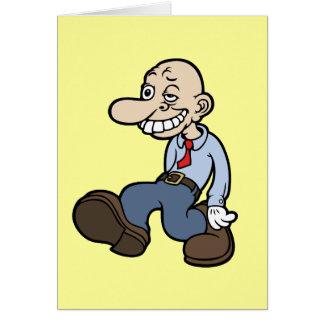 Individuo torpe de la oficina tarjeta de felicitación
