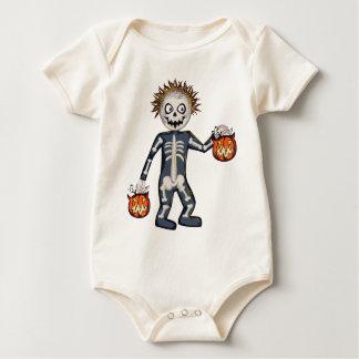 ¡Individuo torpe del feliz Halloween! Mameluco De Bebé