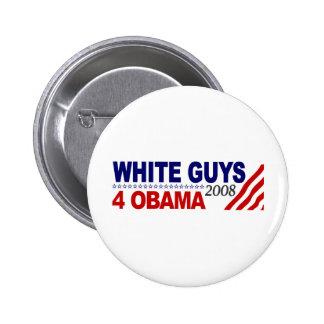 Individuos blancos 4 Obama Pin Redondo De 2 Pulgadas
