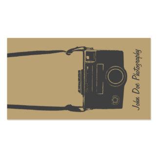 Individuos Brown y cámara retra gris de la películ Tarjetas De Visita