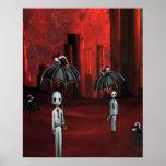 individuos del fantasma del zombi en la lluvia posters