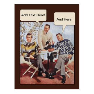 individuos del suéter de los años 50 tarjeta postal