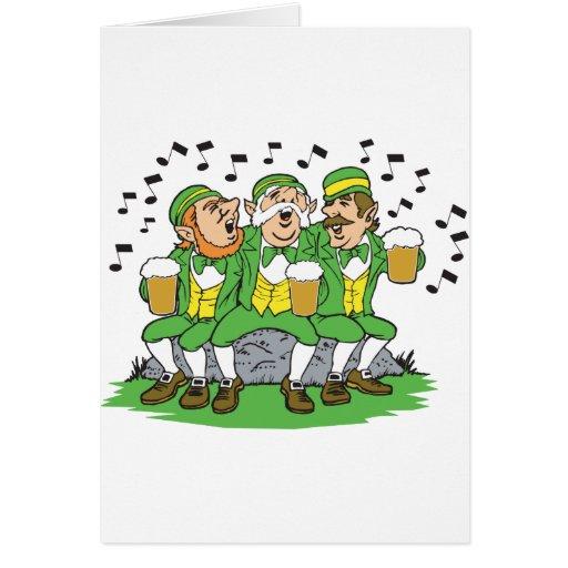Individuos irlandeses cantantes tarjeta de felicitación