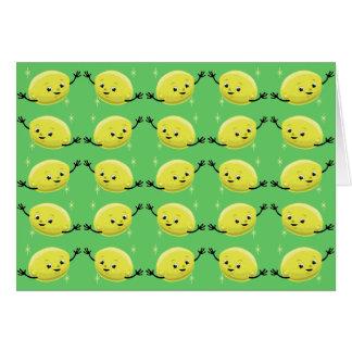 Individuos retros adaptables del limón tarjeta de felicitación