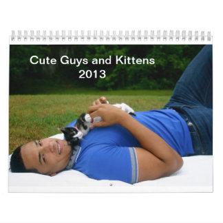 Individuos y calendario lindos de los gatitos