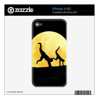 Individuos y la Luna Llena iPhone 4 Skin