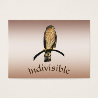 Indivisible Brown Hawk ATC Business Card