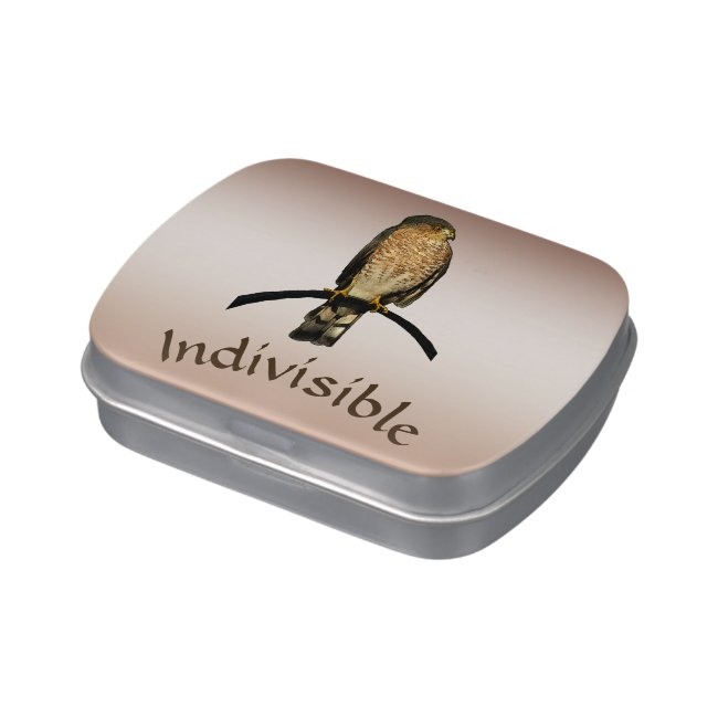 Indivisible Brown Hawk Candy Tin