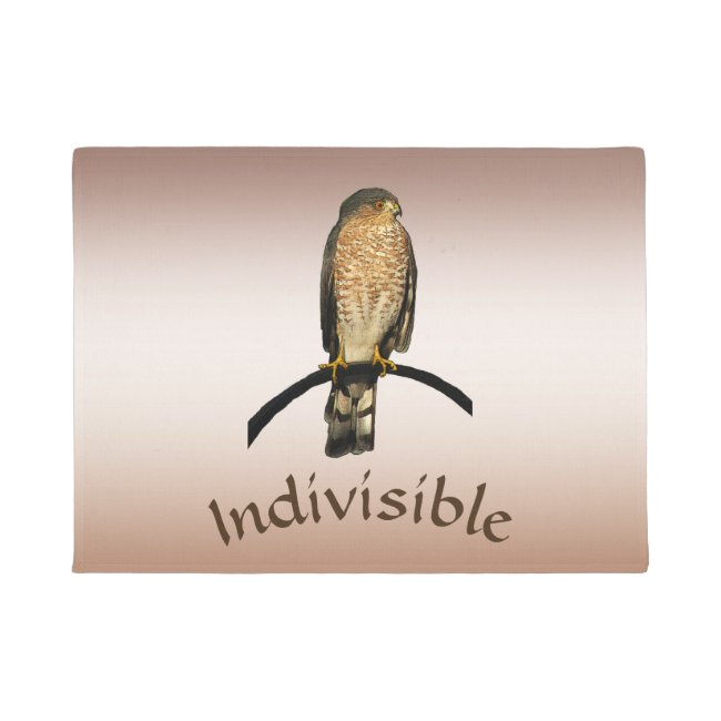 Indivisible Brown Hawk Door Mat