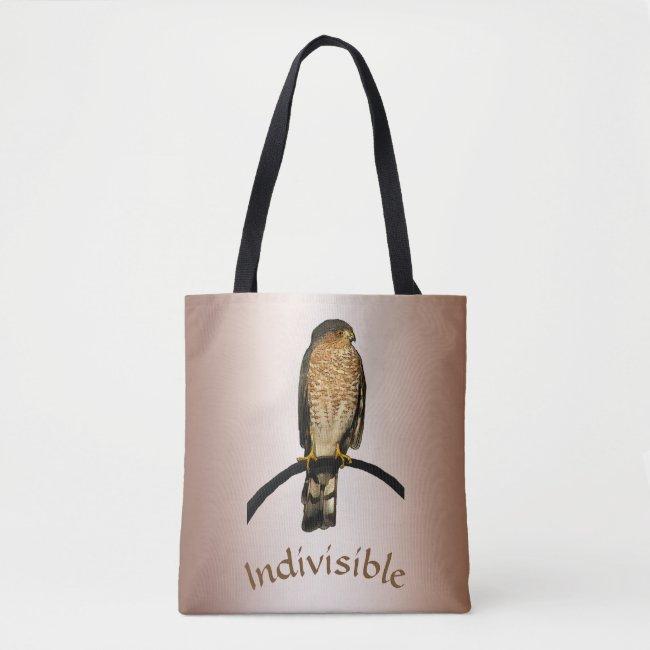 Indivisible Brown Hawk Tote Bag