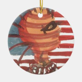 indivisible ceramic ornament
