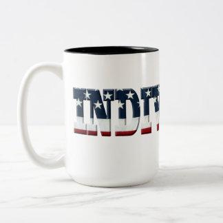 INDIVISIBLE flag Two-Tone Coffee Mug