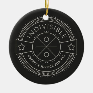 Indivisible, with liberty and justice for all. ceramic ornament
