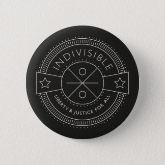 Indivisible, with liberty and justice for all. pinback button
