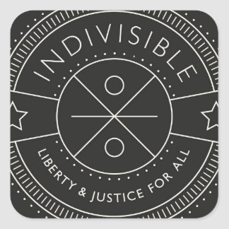 Indivisible, with liberty and justice for all. square sticker