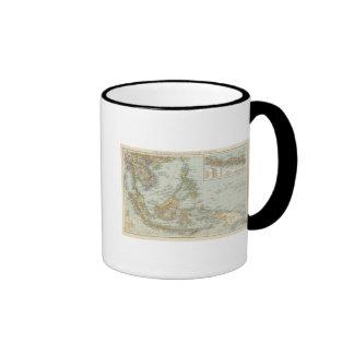Indo china and Malaysian Archipelago Ringer Coffee Mug