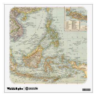 Indo china and Malaysian Archipelago Wall Sticker
