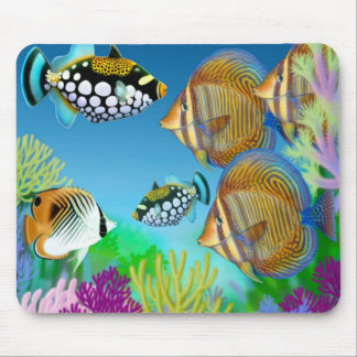 Indo Pacific Coral Reef Fish Mousepad