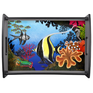 Indo Pacific Coral Reef Fish Tray Serving Trays