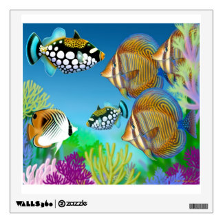 Indo Pacific Coral Reef Fish Wall Decal
