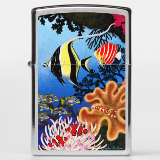 Indo Pacific Coral Reef Fish Zippo Lighter