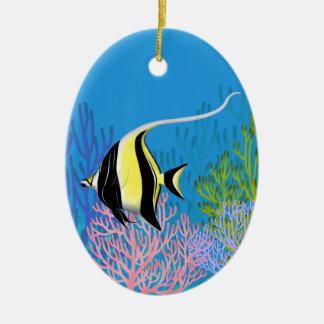 Indo Pacific Moorish Idol Fish Ornament