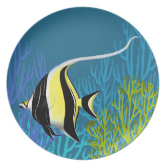 Indo Pacific Moorish Idol Fish Plate
