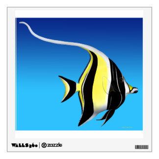 Indo Pacific Moorish Idol Fish Wall Decal