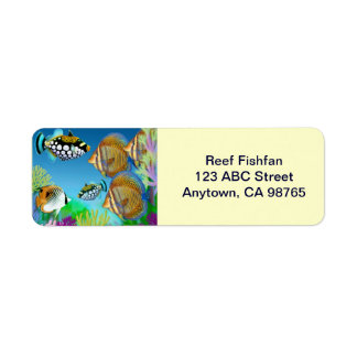 Indo Pacific Reef Fish Avery Label