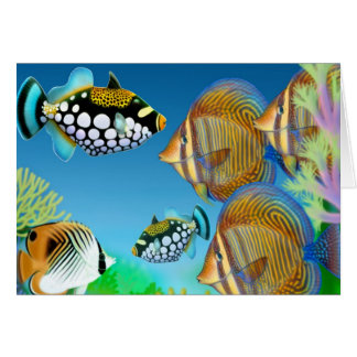 Indo Pacific Reef Fish Greeting Card