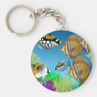 Indo Pacific Reef Fish Keychain