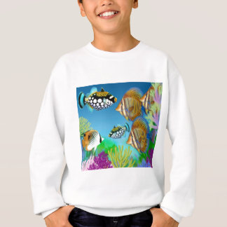 Indo Pacific Reef Fish Kids Sweatshirt