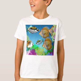 Indo Pacific Reef Fish Kids T-Shirt