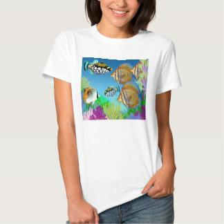 Indo Pacific Reef Fish Ladies Babydoll Tee