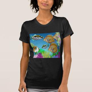 Indo Pacific Reef Fish Ladies Petite T-Shirt