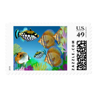 Indo Pacific Reef Fish Postage Stamp