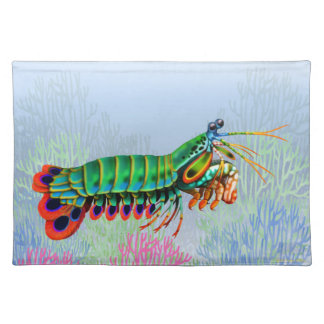 Indo Pacific Reef Mantis Shrimp Placemats
