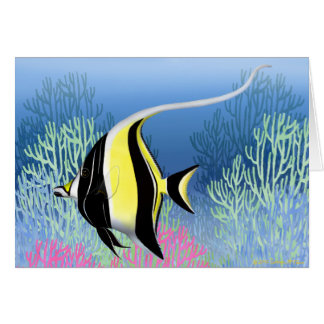 Indo Pacific Reef Moorish Idol Fish Card