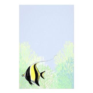Indo Pacific Reef Moorish Idol Fish Stationery