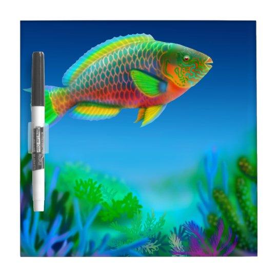 Indo Pacific Reef Parrotfish Dry Erase Board