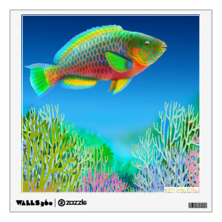 Indo Pacific Reef Parrotfish Wall Decal