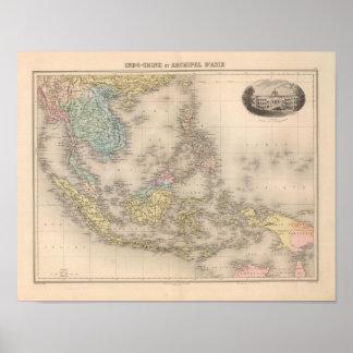 Indochina archipelago of Asia Poster