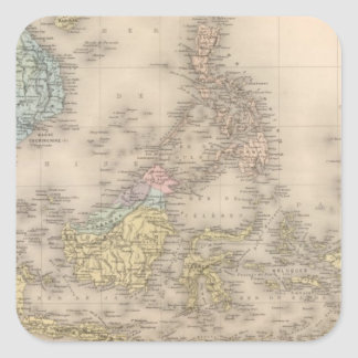 Indochina archipelago of Asia Square Sticker