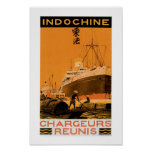 Indochine Chargeurs Reunis Poster