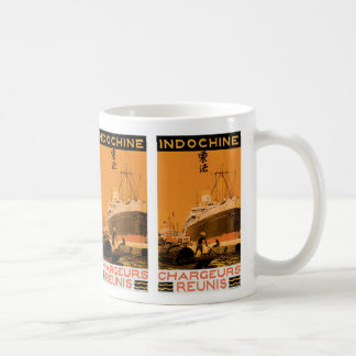 Indochine Chargeurs Reunis Taza Básica Blanca