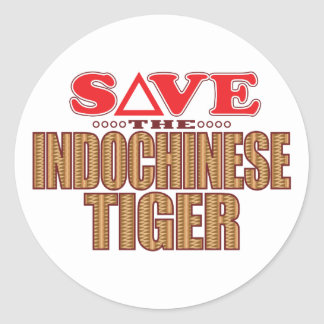 Indochinese Tiger Save Classic Round Sticker