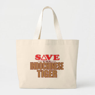Indochinese Tiger Save Large Tote Bag