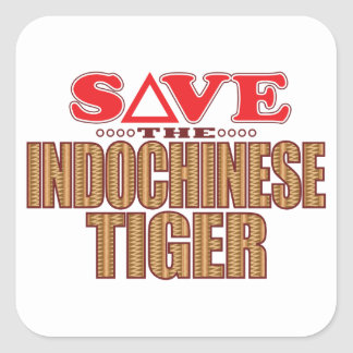Indochinese Tiger Save Square Sticker