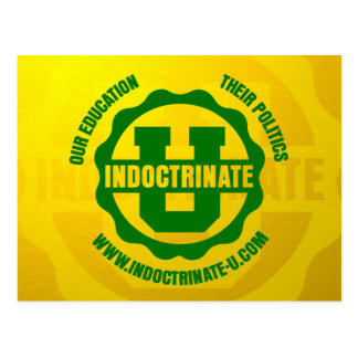 """Indoctrinate U"" Radiation Logo Postcards"